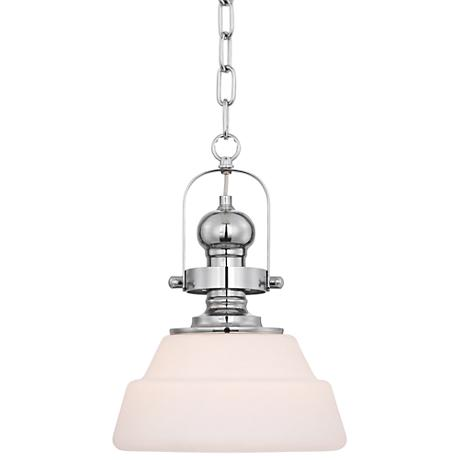 "Possini Euro Crenshaw 10 1/2"" Wide Chrome Mini Pendant"