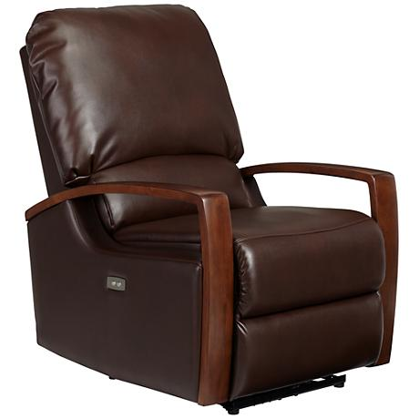 Beau Jamestown Mocha Power Recliner Chair