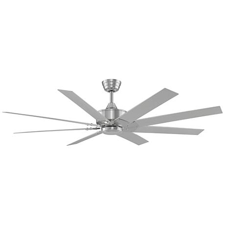 "63"" Fanimation Levon DC Brushed Nickel Ceiling Fan"