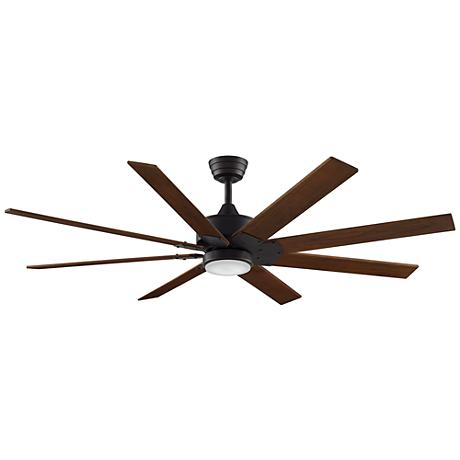 "63"" Levon DC Dark Bronze - Walnut LED Ceiling Fan"
