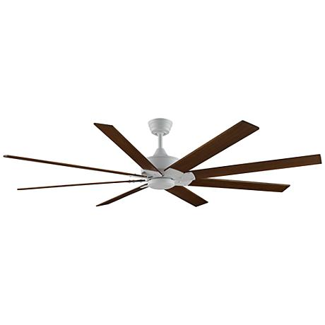 "72"" Levon DC Matte White - Cherry/Walnut Ceiling Fan"