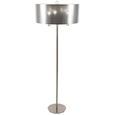 Walker Nickel with Silver Shade Floor Lamp