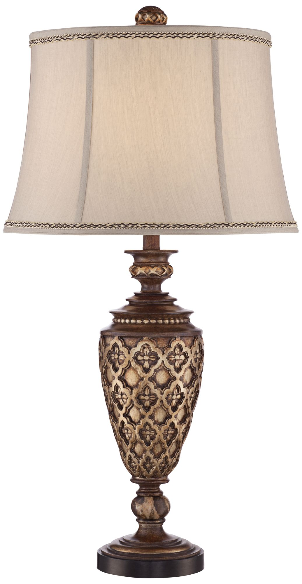 Nicole Light Bronze Urn Table Lamp