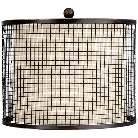 Bronze Mesh Grid Metal Shade 12x12x9 (Spider)