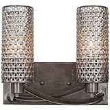 "Varaluz Casablanca 11"" Wide Hand-Applied Steel Bath Light"
