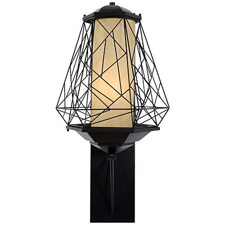 "Varaluz Wright Stuff 33 1/2"" High Black Outdoor Wall Light"