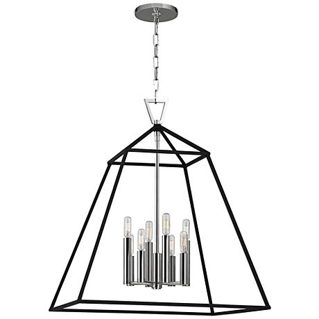 "Hudson Valley Webster 24"" Wide Polished Nickel Pendant Light"