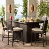 "Elements 72"" Wide Outdoor Weave Glass-Top Fire Table"