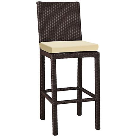 "Elements 26"" Weave Beige Canvas Outdoor Counter Stool"