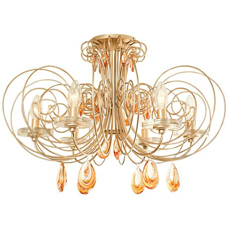"Varaluz Elysse 24"" Wide Gold Dust Ceiling Light"