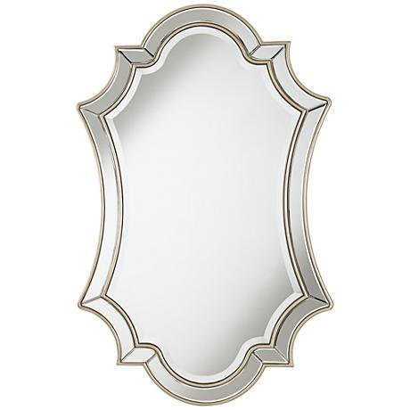 "Kiera Silver Leaf 25"" x 39"" Double Arch Panel Mirror"