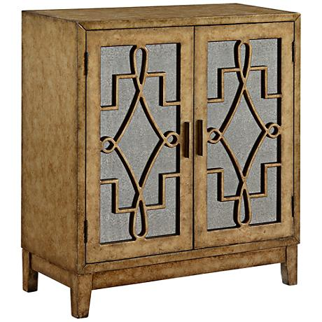 Walford Grafton Metallic Gold 2-Door Cabinet