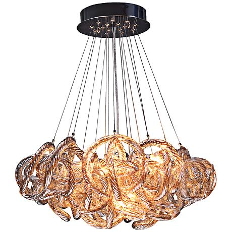 "Infinity 18"" Wide Champagne Glass 5-Light  Pendant"