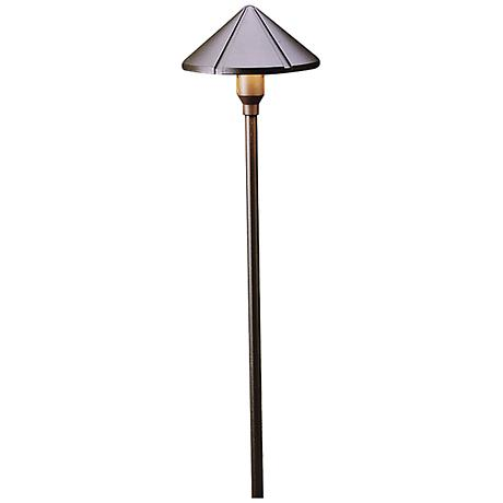 "Kichler Landscape Ridged 22""H Bronze 2700K LED Path Light"