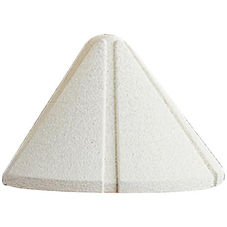 "Kichler Ridged 3 3/4"" Wide White 3000K LED Deck Light"