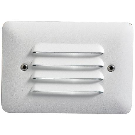 Ridged Satin Rectangle 4 1 2 Quot Wide Led Outdoor Step Light