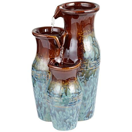 Mediterranean Jar Ceramic Tabletop Fountain