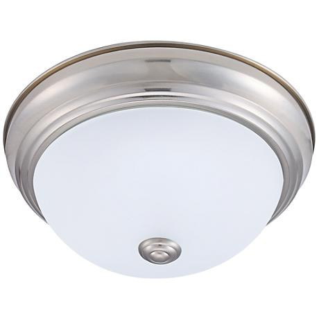 "Eco-Star Stepdown 11 1/4""W Satin Nickel LED Ceiling Light"