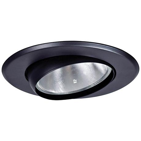 "5"" Black Gimbal Recessed Light Eyeball Trim"