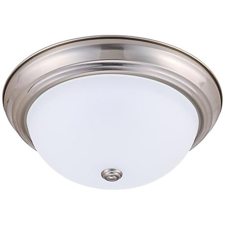 "Eco-Star Stepdown 15 1/4""W Satin Nickel LED Ceiling Light"