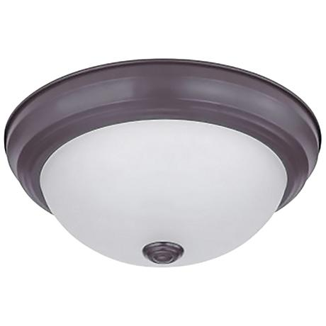 "Eco-Star Stepdown 15 1/4"" Wide Bronze LED Ceiling Light"