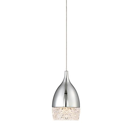 "Possini Euro Velovic 4"" Wide Chrome LED Mini Pendant"