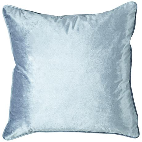 "Tessa Quartz Velvet 18"" Square Decorative Pillow"