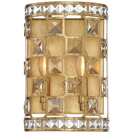 "Savoy House Clarion 12"" High Gold Bullion Wall Sconce"
