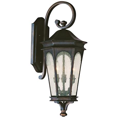 "Capital Inman Park 27""H Scroll Bronze Outdoor Wall Light"