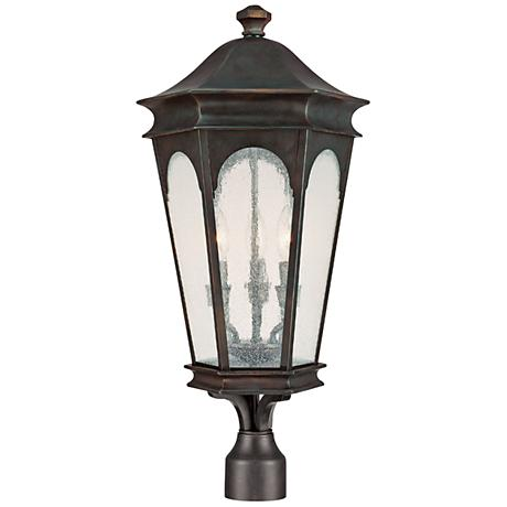 "Capital Inman Park 28"" High Old Bronze Outdoor Post Light"