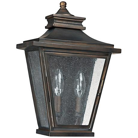 "Capital Astor 14""H Old Bronze Steel Outdoor Wall Light"