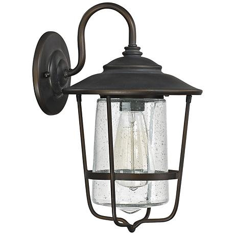 "Capital Creekside 13 1/4""H Old Bronze Outdoor Wall Light"