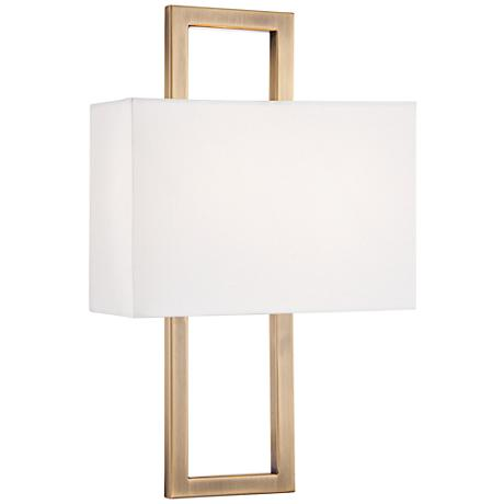 "Possini Euro French Brass 15 1/2""H Rectangular Wall Sconce"