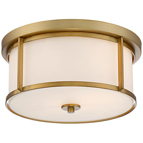 "Possini Euro Rebbie 13 1/2""W Antique Gold Ceiling Light"