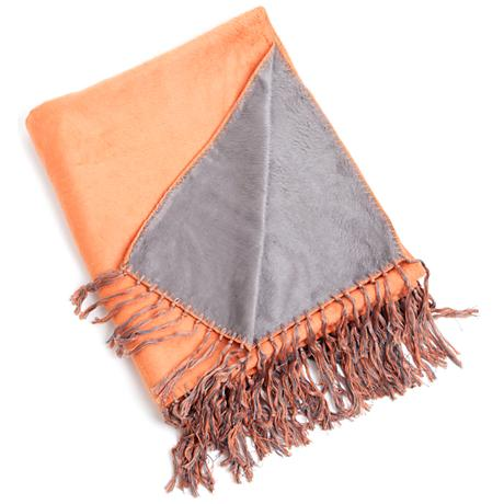 Persimmon Bamboo Reversible Throw Blanket