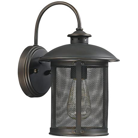 "Capital Dylan Mesh 12 1/2"" High Bronze Outdoor Wall Light"