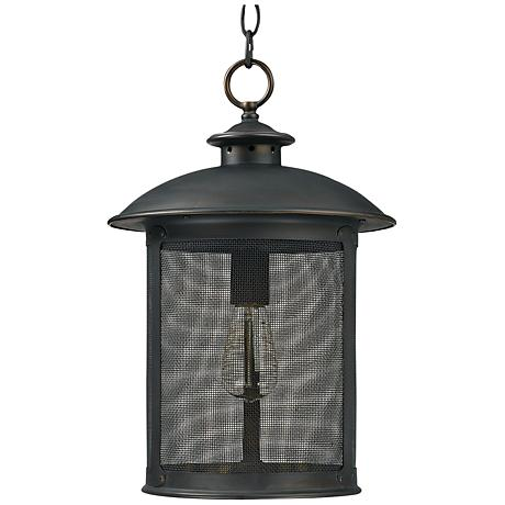 "Capital Dylan Mesh 11 1/2""W Bronze Outdoor Post Light"