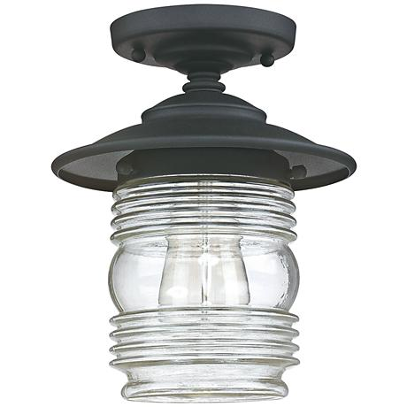 "Capital Creekside 8 1/4"" Wide Black Outdoor Ceiling Light"