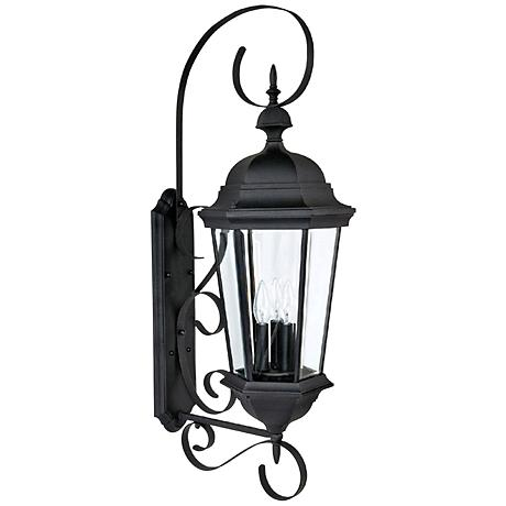 Capital carriage house 36 high black outdoor wall light 1h839 Exterior carriage house lights