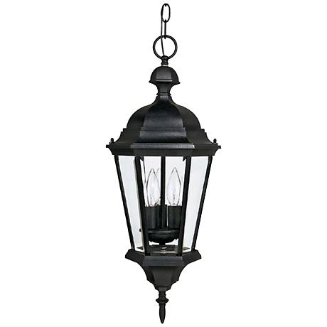 "Carriage House 9 1/2"" Wide Black Outdoor Hanging Light"