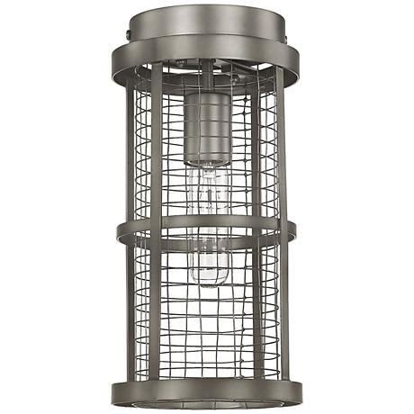 "Donny Osmond Home Davis 6""W Graphite Cage Ceiling Light"