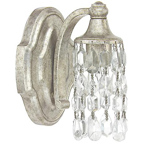 "Capital Blakely 7 3/4""H Matte Antique Silver Wall Sconce"