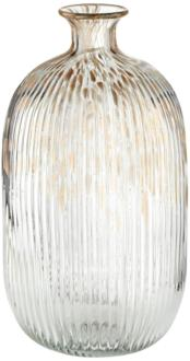 "Klarissa Clear Gold 13 1/2"" High Decorative Glass Vase (1J140) 1J140"
