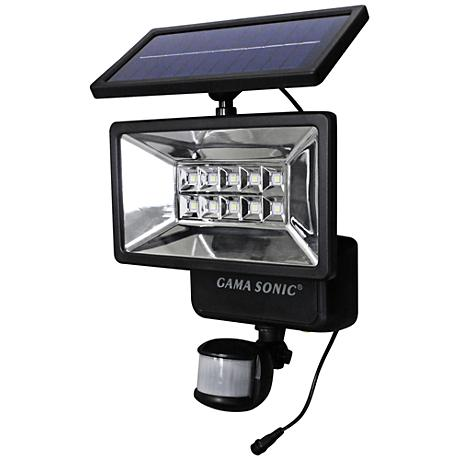 "Motion Sensor 12""H Black Outdoor LED Solar Security Light"