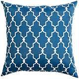 "Frisco Navy Geometric 20"" Square Outdoor Pillow"