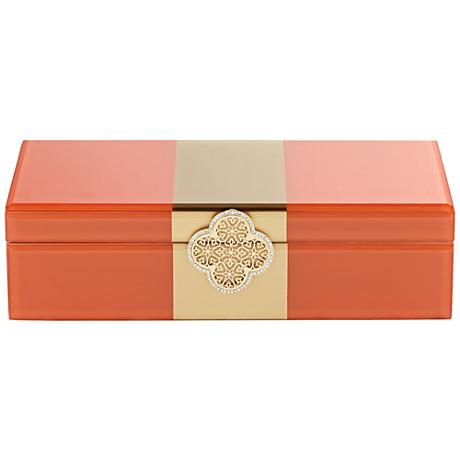 Alla Large Orange Jewelry Box