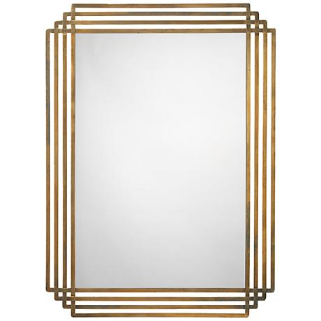 "Jamie Young Serai Brass 32"" x 44"" Wall Mirror"
