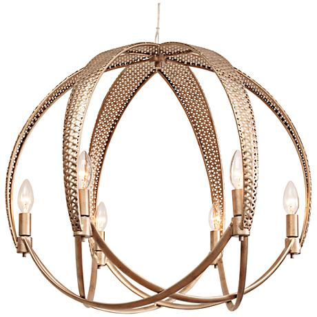 "Varaluz Casablanca 25 3/4"" Wide Zen Gold Orb Pendant Light"