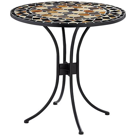 Penfield Round Mosaic Outdoor Bistro Table