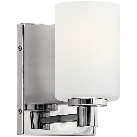 "Hinkley Karlie 8 1/4"" High Chrome Cylinder Wall Sconce"